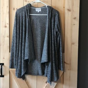 Olive and Oak Gray Hooded Cardigan